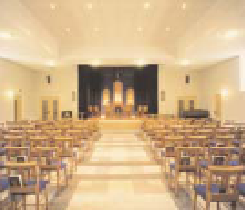 Before first service in new church building 1995